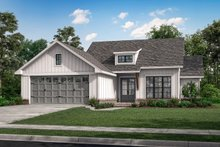 Dream House Plan - Farmhouse Exterior - Front Elevation Plan #430-253