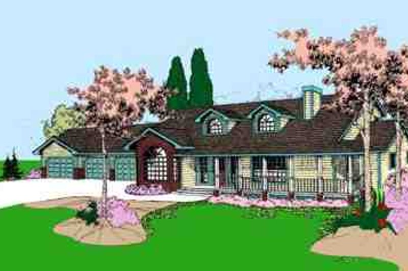 Traditional Exterior - Front Elevation Plan #60-607 - Houseplans.com