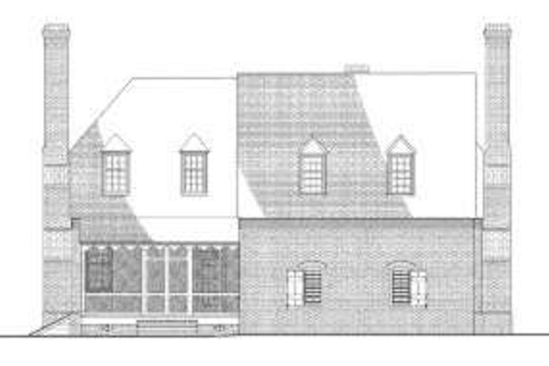 Colonial Exterior - Rear Elevation Plan #137-243 - Houseplans.com