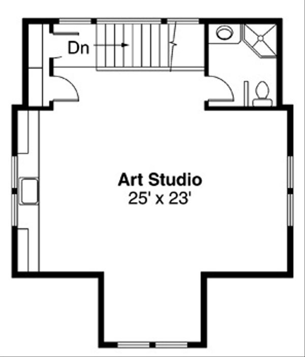 Craftsman Floor Plan - Upper Floor Plan Plan #124-635