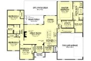 European Style House Plan - 4 Beds 2 Baths 2210 Sq/Ft Plan #430-137 Floor Plan - Main Floor Plan