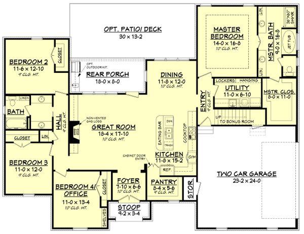 European Floor Plan - Main Floor Plan Plan #430-137
