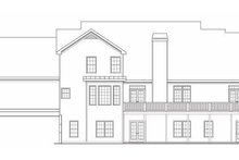 Country Exterior - Rear Elevation Plan #419-108