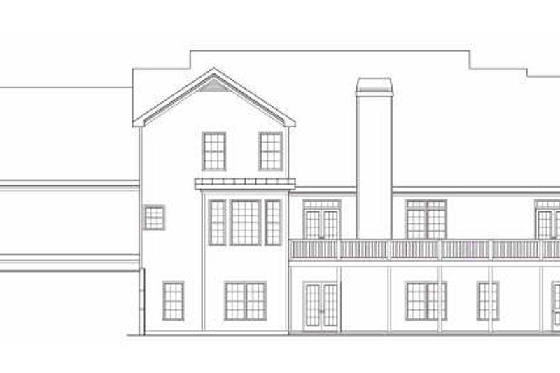Country Exterior - Rear Elevation Plan #419-108 - Houseplans.com