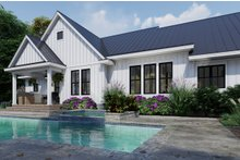 Farmhouse Exterior - Rear Elevation Plan #120-263