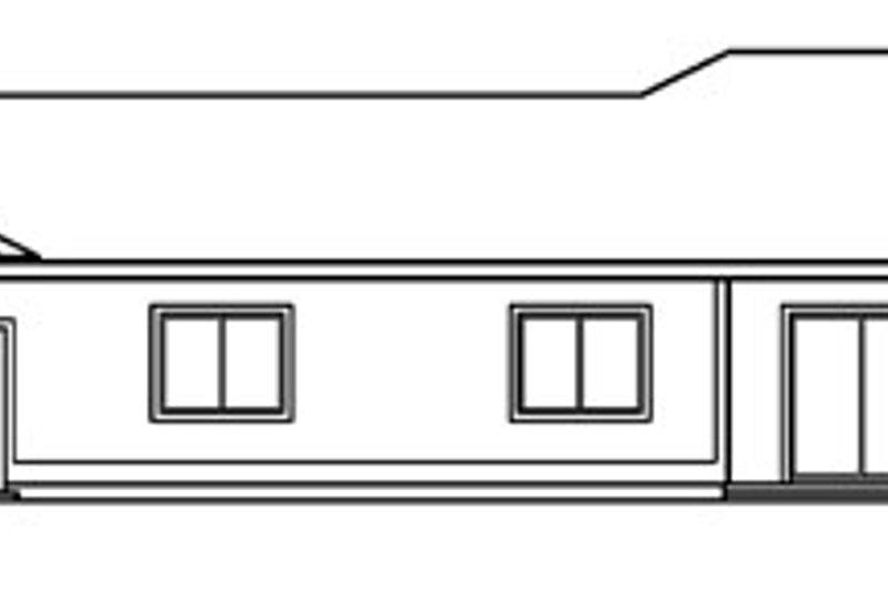 Ranch Exterior - Rear Elevation Plan #124-710 - Houseplans.com