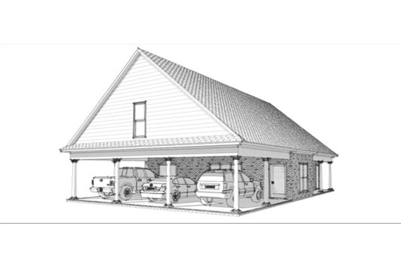 Traditional Style House Plan - 2 Beds 2 Baths 1263 Sq/Ft Plan #63-340 Exterior - Front Elevation