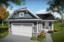 Ranch Exterior - Front Elevation Plan #70-1483