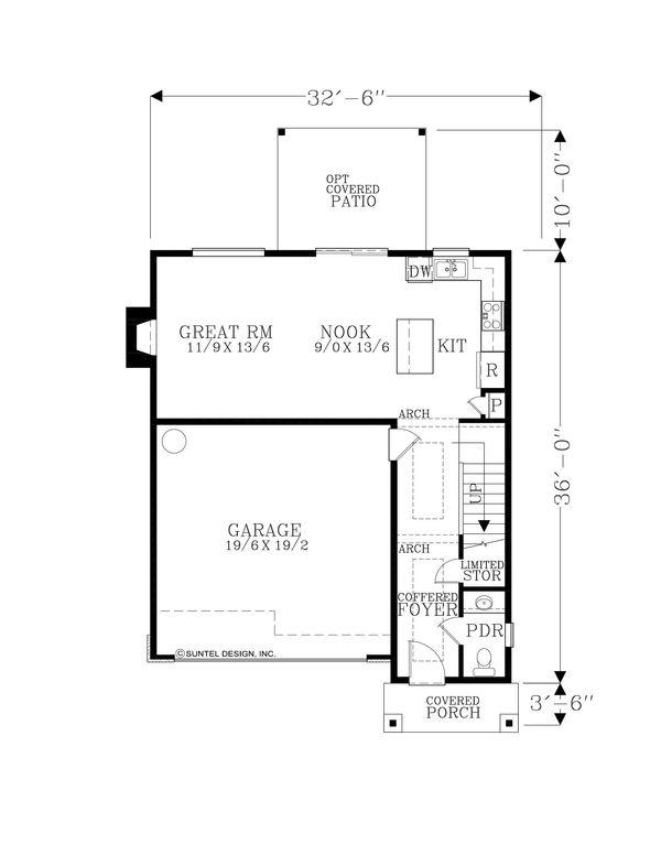 Craftsman Floor Plan - Main Floor Plan Plan #53-642