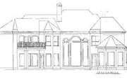European Style House Plan - 4 Beds 5 Baths 4500 Sq/Ft Plan #20-1199 Exterior - Rear Elevation