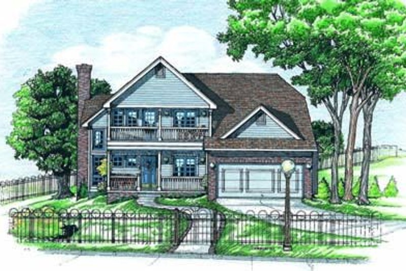 Southern Exterior - Front Elevation Plan #20-550