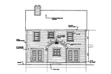 House Plan Design - Country Exterior - Rear Elevation Plan #3-152