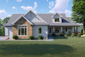 Craftsman Exterior - Front Elevation Plan #455-215