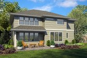 Contemporary Style House Plan - 4 Beds 3 Baths 3185 Sq/Ft Plan #48-963 Exterior - Rear Elevation