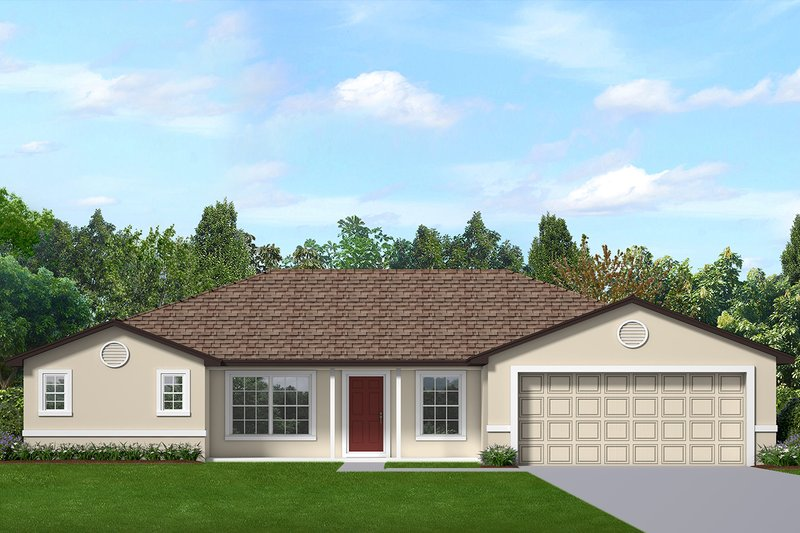 Home Plan - Ranch Exterior - Front Elevation Plan #1058-182