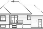 European Style House Plan - 2 Beds 1 Baths 1007 Sq/Ft Plan #23-366 Exterior - Rear Elevation