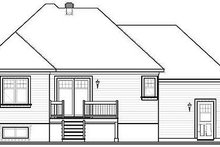 European Exterior - Rear Elevation Plan #23-366