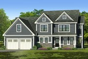 Traditional Style House Plan - 3 Beds 2.5 Baths 2188 Sq/Ft Plan #1010-243 Exterior - Front Elevation