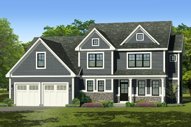 Architectural House Design - Traditional Exterior - Front Elevation Plan #1010-243
