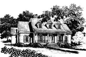 Country Exterior - Front Elevation Plan #37-215