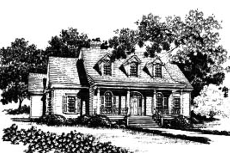 Home Plan - Country Exterior - Front Elevation Plan #37-215