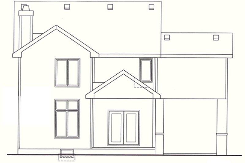European Exterior - Rear Elevation Plan #20-1405 - Houseplans.com