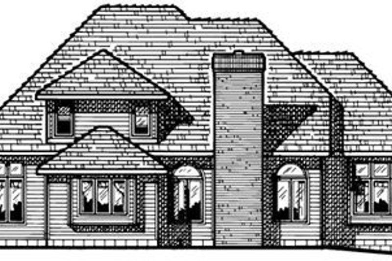 Traditional Exterior - Rear Elevation Plan #20-2006 - Houseplans.com
