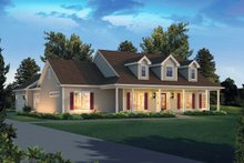 Architectural House Design - Country Exterior - Front Elevation Plan #57-650