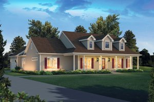 Country Exterior - Front Elevation Plan #57-650