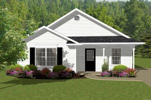 Cottage Exterior - Front Elevation Plan #14-239