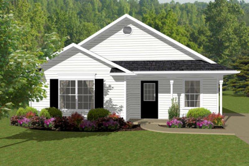 Dream House Plan - Cottage Exterior - Front Elevation Plan #14-239