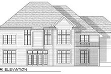 Architectural House Design - Colonial Exterior - Rear Elevation Plan #70-811