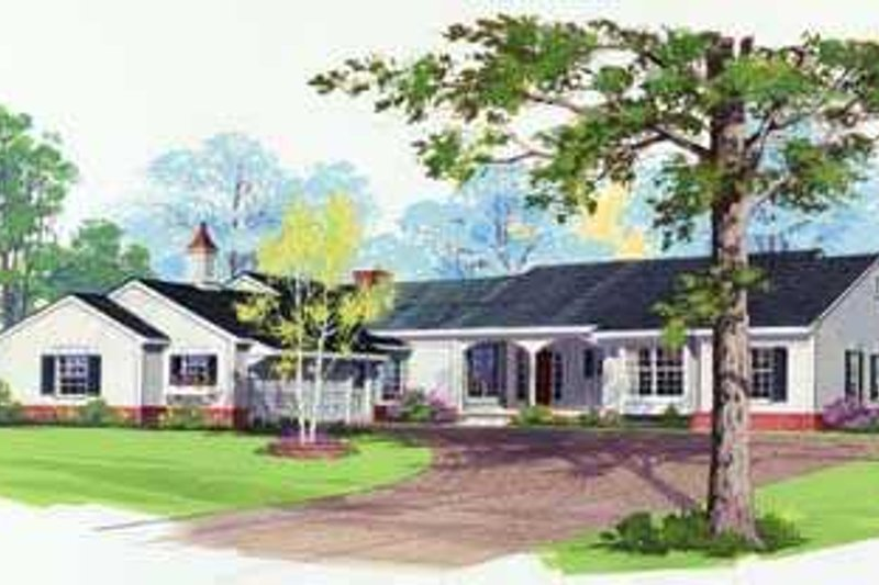 Traditional Exterior - Front Elevation Plan #72-159 - Houseplans.com