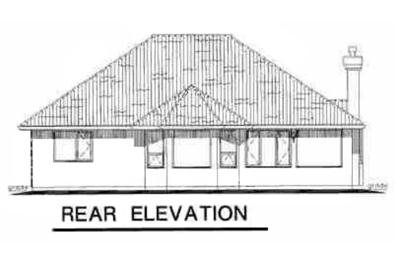 Traditional Exterior - Rear Elevation Plan #18-1006 - Houseplans.com
