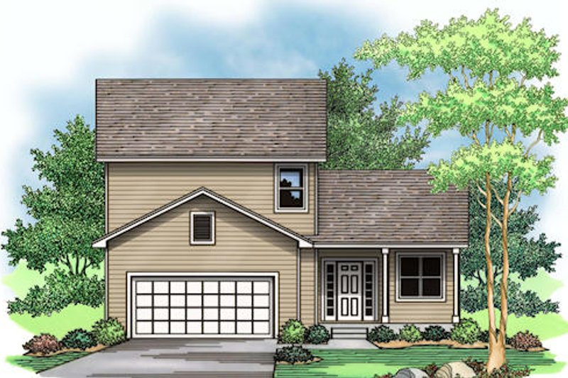 Traditional Exterior - Front Elevation Plan #51-376 - Houseplans.com