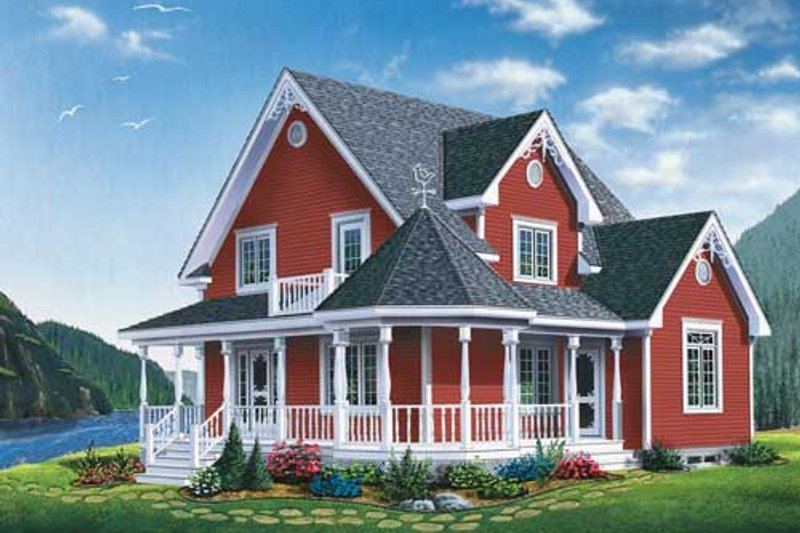 Home Plan - Victorian Exterior - Front Elevation Plan #23-2178