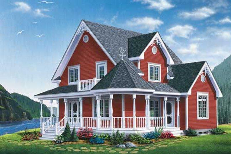 Architectural House Design - Victorian Exterior - Front Elevation Plan #23-2178