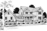 Farmhouse Style House Plan - 3 Beds 2.5 Baths 2382 Sq/Ft Plan #20-239 Exterior - Front Elevation