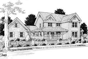 Home Plan - Farmhouse Exterior - Front Elevation Plan #20-239