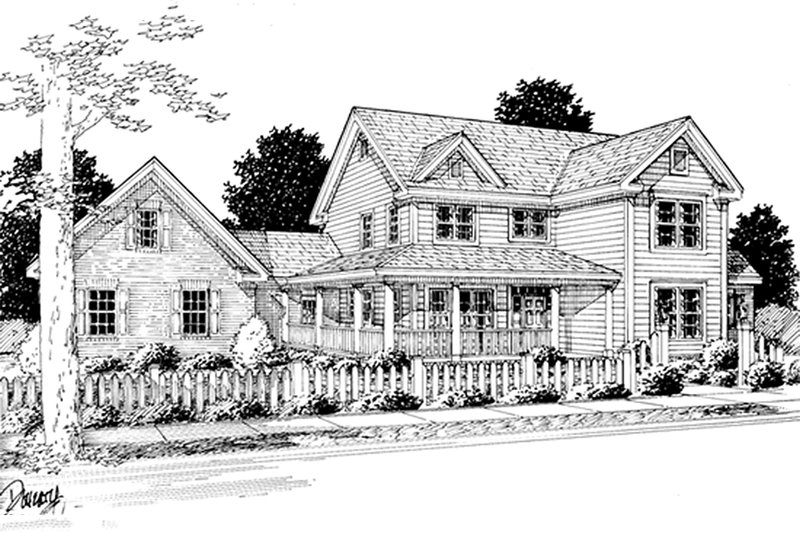 Architectural House Design - Farmhouse Exterior - Front Elevation Plan #20-239