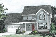 Traditional Style House Plan - 3 Beds 2.5 Baths 1389 Sq/Ft Plan #20-1243 Exterior - Front Elevation