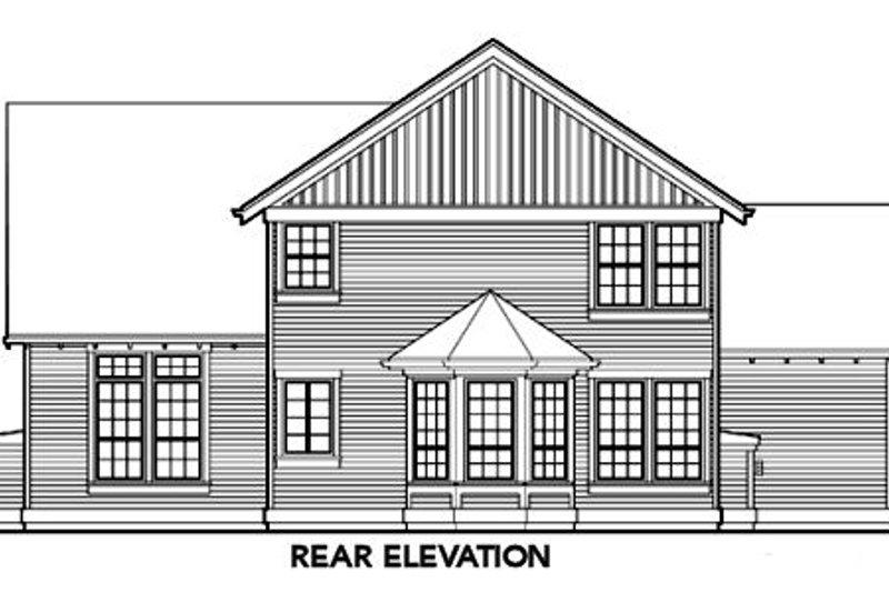 European Exterior - Rear Elevation Plan #48-335 - Houseplans.com