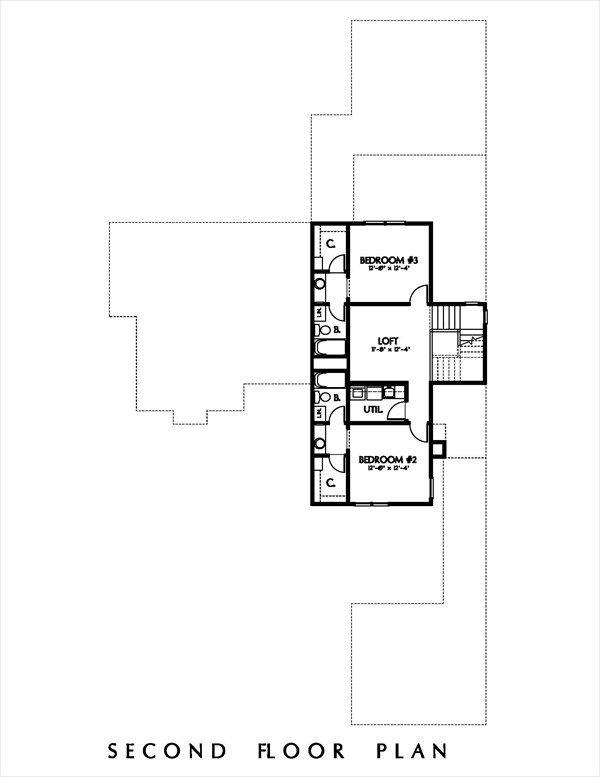 Cottage Floor Plan - Upper Floor Plan Plan #449-12