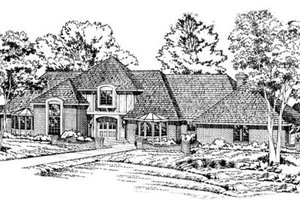Southern Exterior - Front Elevation Plan #312-112