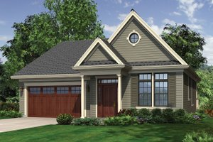 Architectural House Design - Front view - 2000 square foot Traditional home