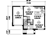 Contemporary Style House Plan - 2 Beds 1 Baths 1516 Sq/Ft Plan #25-4513 Floor Plan - Main Floor Plan