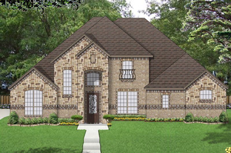 Traditional Exterior - Front Elevation Plan #84-558 - Houseplans.com