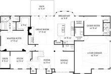 European Floor Plan - Main Floor Plan Plan #119-257