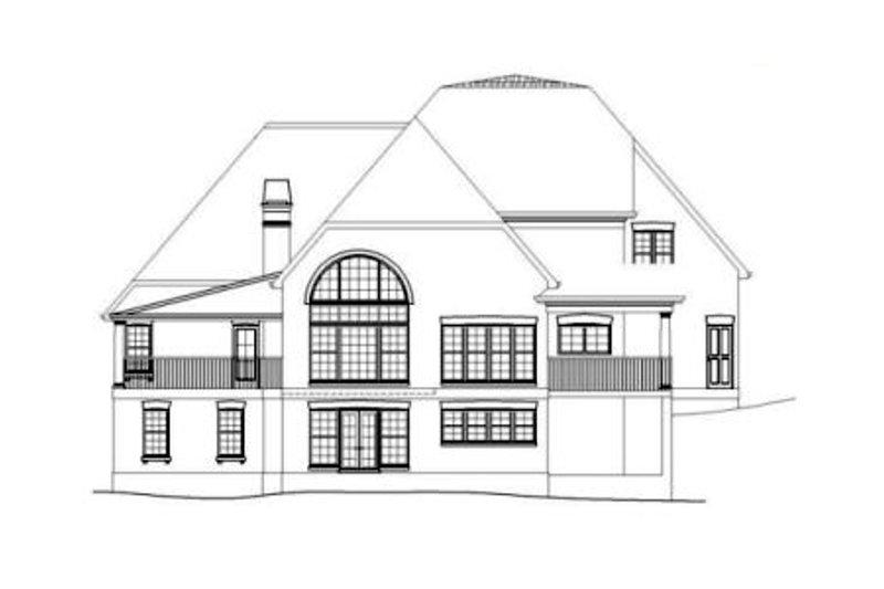 European Exterior - Rear Elevation Plan #119-351 - Houseplans.com