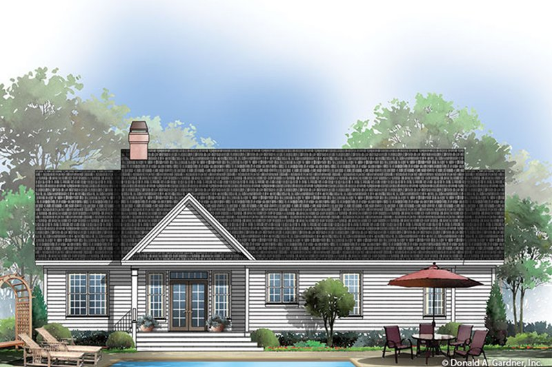 Traditional Exterior - Rear Elevation Plan #929-57 - Houseplans.com